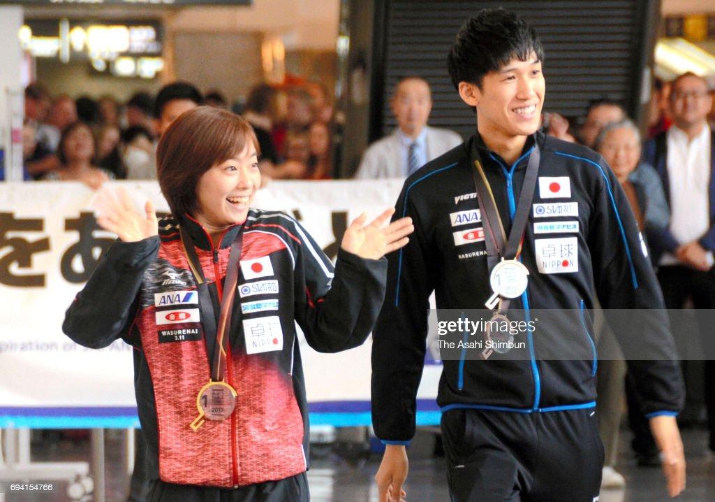 Table Tennis Japan Team Returns Home
