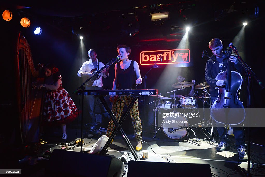 Kat Arney, Nick Siddall, Mary Erskine, Dave Oliver and Chris Bangs of the band Talk in Colour perform at Barfly during the London Jazz Festival 2012 on November 13, 2012 in London, United Kingdom.
