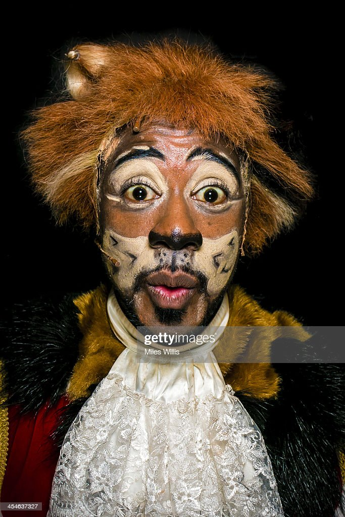 Kat B playing 'Puss' poses for a portrait during the Puss in Boots pantomime at the Hackney Empire on December 6, 2013 in London, England.