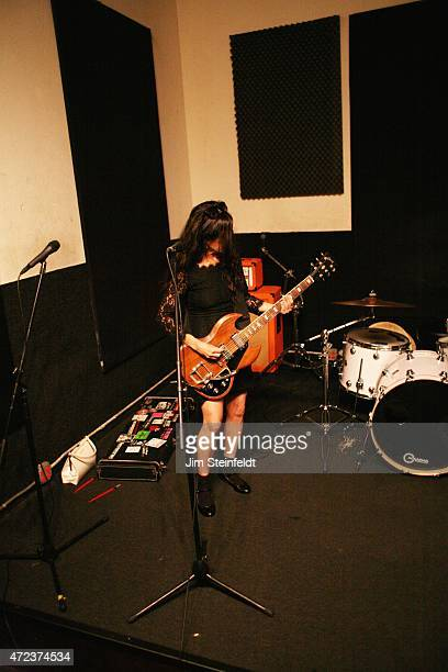 Kat Bjelland of rock band Babes in Toyland rehearses for their tour at Amp Rehearsal in N Hollywood California on November 16 2014