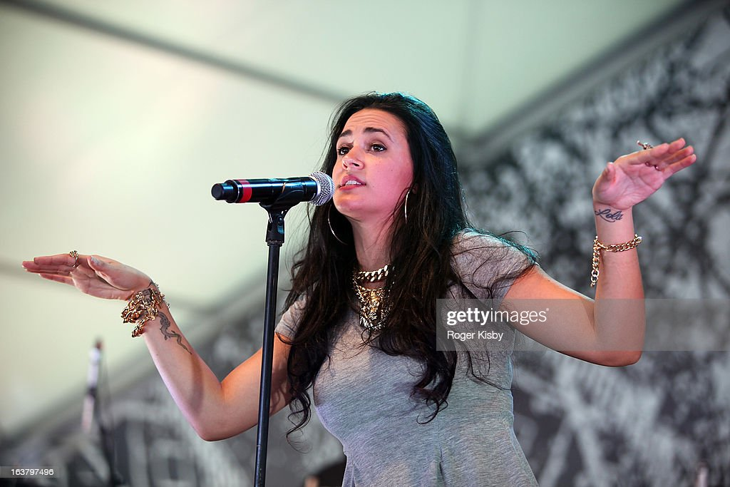 Kat Dahlia performs onstage at The Fader Fort presented by Converse during SXSW on March 15, 2013 in Austin, Texas.