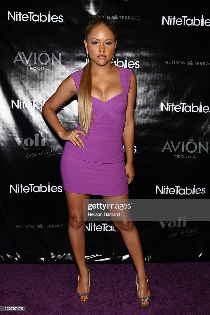 Beautiful Kat DeLuna Attends NiteTables.com Launch Party At Hudson Terrace On August  10, 2011