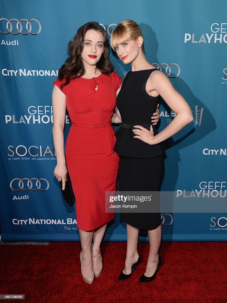 <a gi-track='captionPersonalityLinkClicked' href=/galleries/search?phrase=Kat+Dennings&family=editorial&specificpeople=846118 ng-click='$event.stopPropagation()'>Kat Dennings</a> and <a gi-track='captionPersonalityLinkClicked' href=/galleries/search?phrase=Beth+Behrs&family=editorial&specificpeople=6556378 ng-click='$event.stopPropagation()'>Beth Behrs</a> attend Geffen Playhouse's Annual 'Backstage At The Geffen' Gala at Geffen Playhouse on March 22, 2014 in Los Angeles, California.