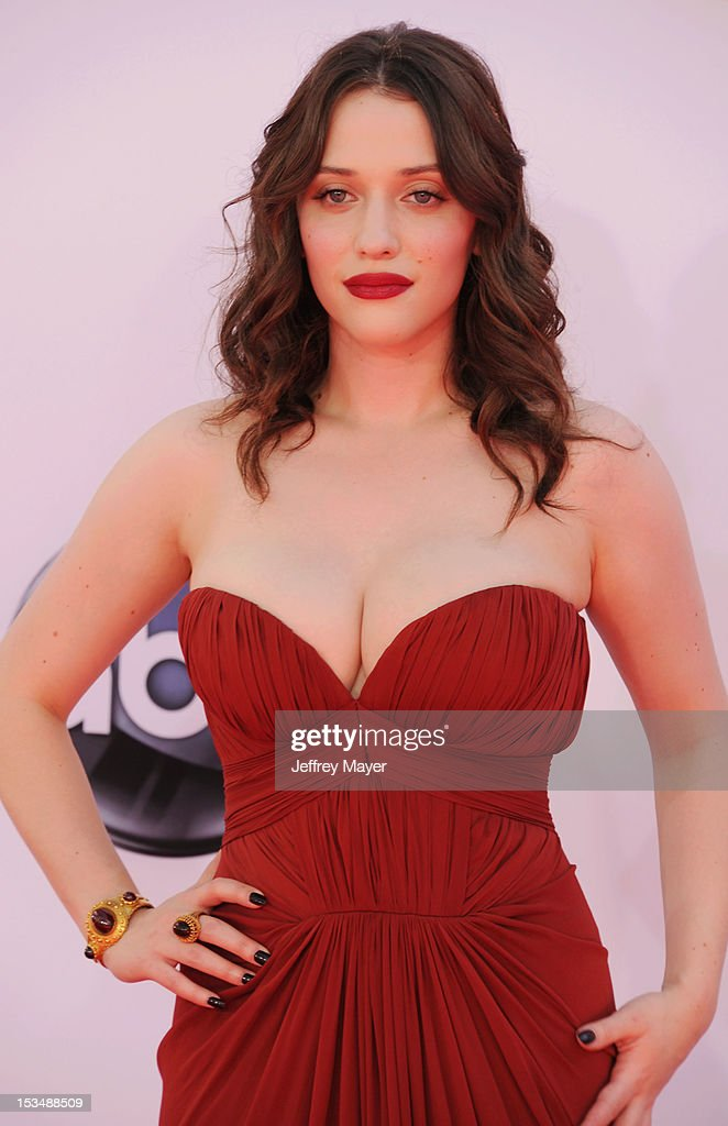 Kat Dennings arrives at the 64th Primetime Emmy Awards at Nokia Theatre L.A. Live on September 23, 2012 in Los Angeles, California.