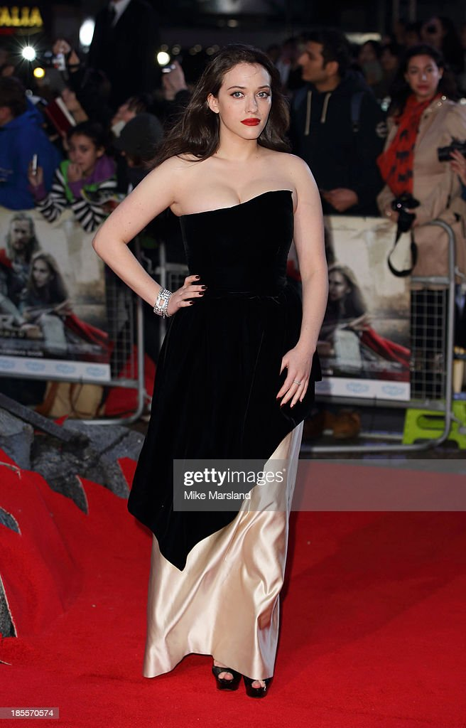 <a gi-track='captionPersonalityLinkClicked' href=/galleries/search?phrase=Kat+Dennings&family=editorial&specificpeople=846118 ng-click='$event.stopPropagation()'>Kat Dennings</a> attends the World Premiere of 'Thor: The Dark World' at Odeon Leicester Square on October 22, 2013 in London, England.