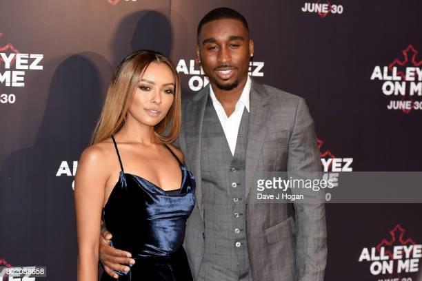 Kat Graham and Demetrius Shipp Jr attend the 'All Eyez On Me' UK Film Premiere on June 27 2017 in London England