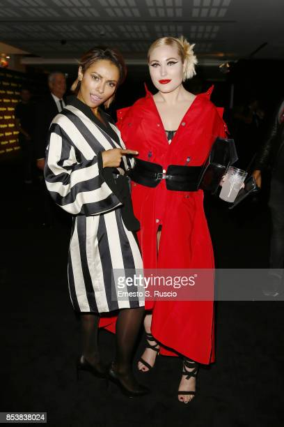 Kat Graham and Hayley Hasselhoff attend Rolling Stone party during Milan Fashion Week Spring/Summer 2018 at on September 24 2017 in Milan Italy