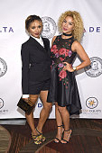Kat Graham and Sivan Levi attend as the Friars Club Honors Tony Bennett With The Entertainment Icon Award Arrivals at New York Sheraton Hotel Tower...