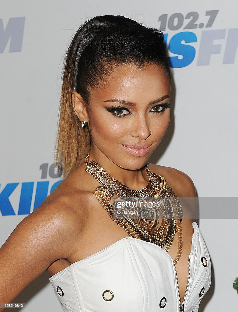 Kat Graham arrives at the 2012 KIIS FM Jingle Ball at Nokia Theatre LA Live on December 1, 2012 in Los Angeles, California.