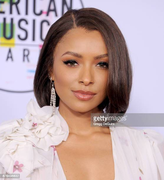 Kat Graham arrives at the 2017 American Music Awards at Microsoft Theater on November 19 2017 in Los Angeles California