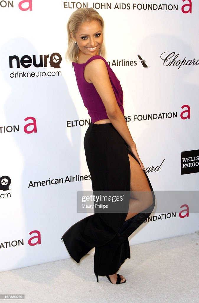 Kat Graham arrives at the 21st Annual Elton John AIDS Foundation Academy Awards Viewing Party at Pacific Design Center on February 24, 2013 in West Hollywood, California.