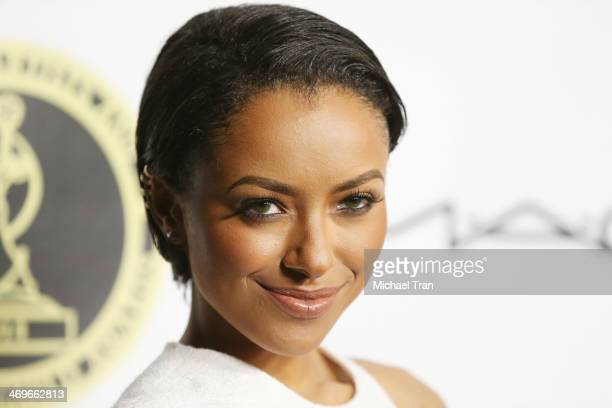 Kat Graham arrives at The Annual MakeUp Artists and Hair Stylists Guild Awards held at Paramount Theater on the Paramount Studios lot on February 15...