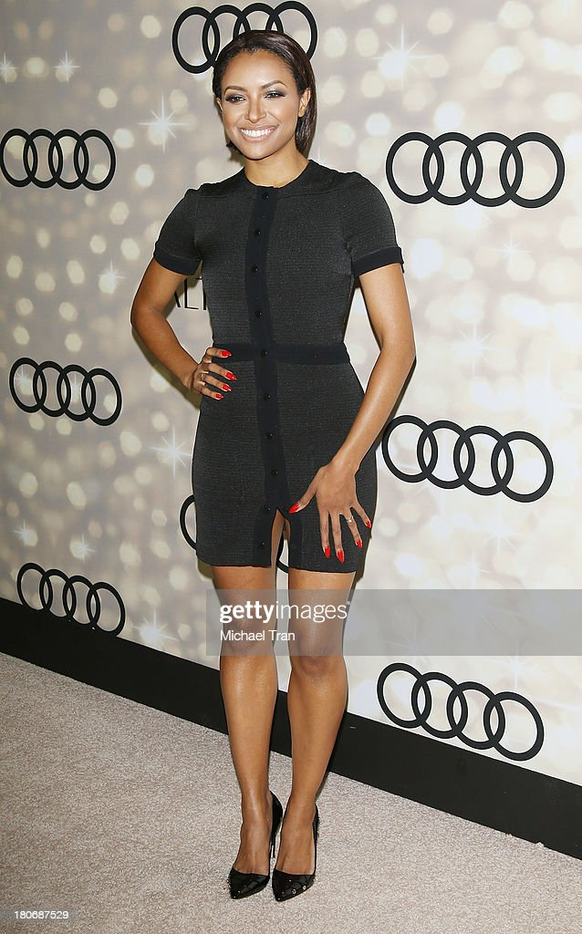 Kat Graham arrives at the Audi and Altuzarra EMMYs week 2013 kick-off party held at Cecconi's Restaurant on September 15, 2013 in Los Angeles, California.
