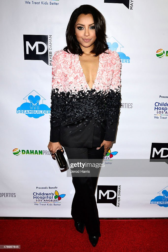 Kat Graham arrives at the Dream Builders Project's 'A Brighter Future For Children' benefit at H.O.M.E. on March 15, 2014 in Beverly Hills, California.