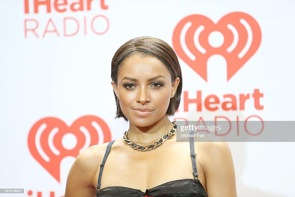 Kat Graham arrives at the iHeartRadio Music Festival - press room - Day 2 held on September 21, 2013 in Las Vegas, Nevada.