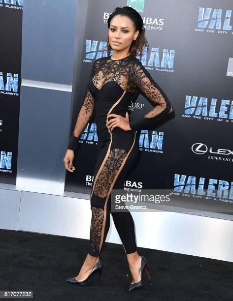 Kat Graham arrives at the Premiere Of EuropaCorp And STX Entertainment's 'Valerian And The City Of A Thousand Planets' at TCL Chinese Theatre on July...