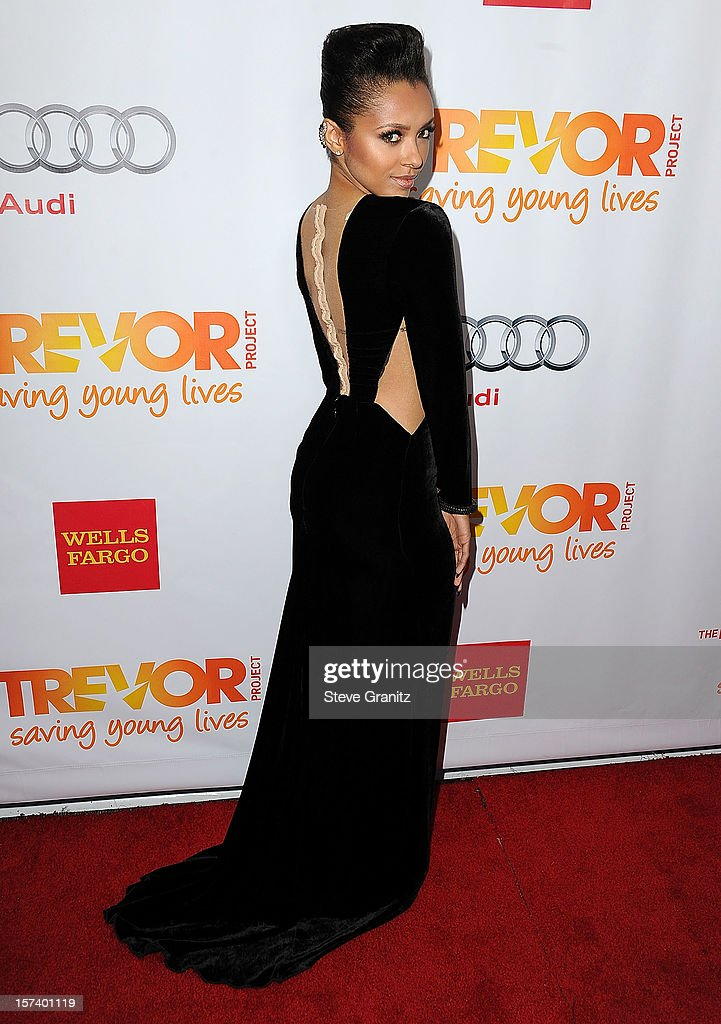 Kat Graham arrives at the The Trevor Project's 2012 'Trevor Live' Event Honoring Katy Perry at Hollywood Palladium on December 2, 2012 in Hollywood, California.