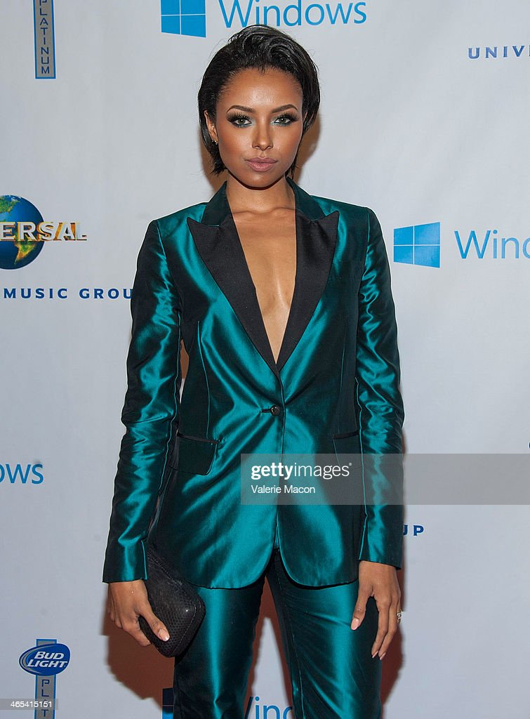 Kat Graham arrives at the Universal Music Group 2014 Post GRAMMY Party at The Ace Hotel Theater on January 26, 2014 in Los Angeles, California.