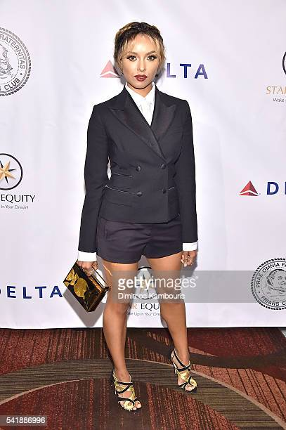 Kat Graham attends as the Friars Club Honors Tony Bennett With The Entertainment Icon Award Arrivals at New York Sheraton Hotel Tower on June 20 2016...