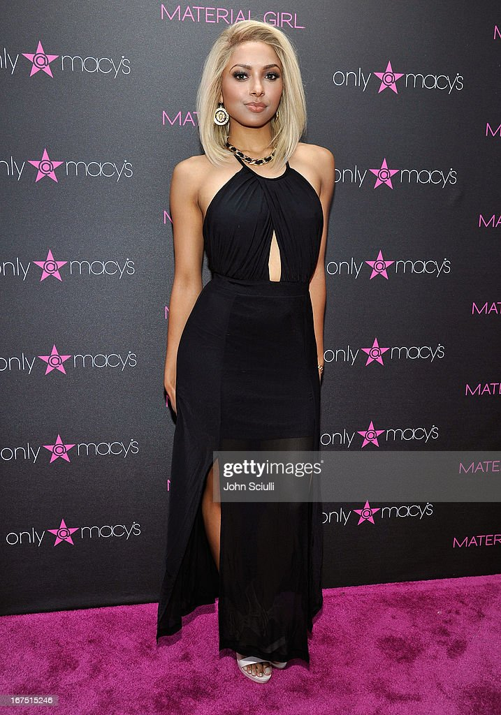 Kat Graham attends Madonna's 'Fashion Evolution' Pop-Up Exhibit, hosted by Material Girl at Macy's Westfield Century City on April 25, 2013 in Century City, California.