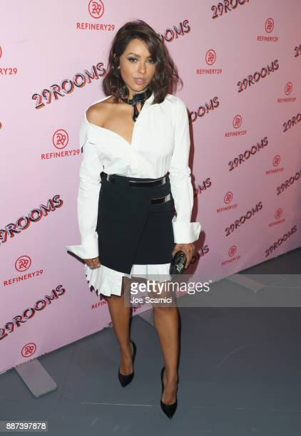 Kat Graham attends Refinery29 29Rooms Los Angeles Turn It Into Art Opening Night Party at ROW DTLA on December 6 2017 in Los Angeles California