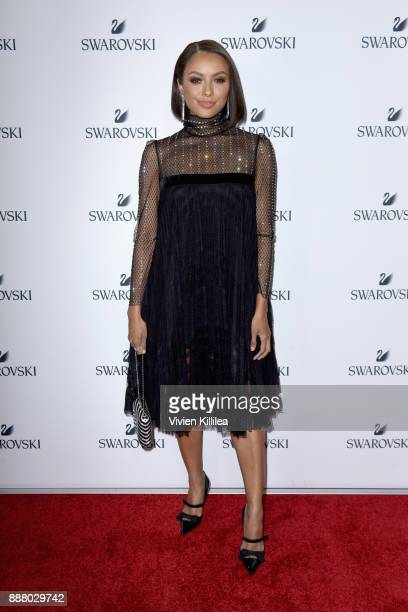 Kat Graham attends Swarovski's Holiday Collection Launch at The Grove on December 7 2017 in Los Angeles California