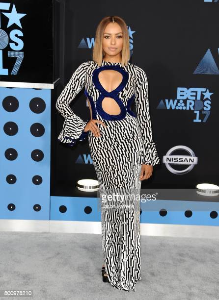 Kat Graham attends the 2017 BET Awards at Microsoft Theater on June 25 2017 in Los Angeles California