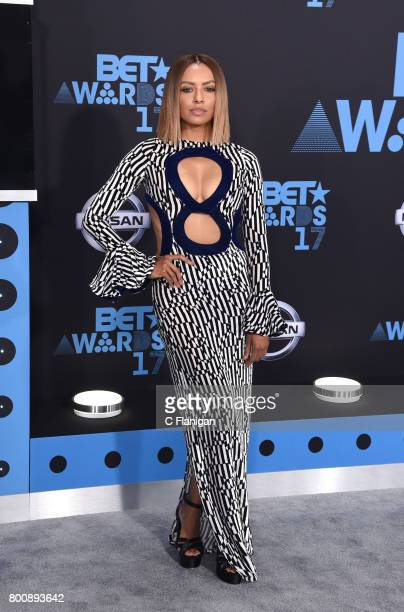 Kat Graham attends the 2017 BET Awards at Staples Center on June 25 2017 in Los Angeles California