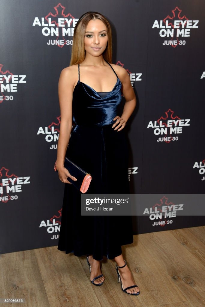Kat Graham attends the 'All Eyez On Me' UK Film Premiere on June 27, 2017 in London, England.