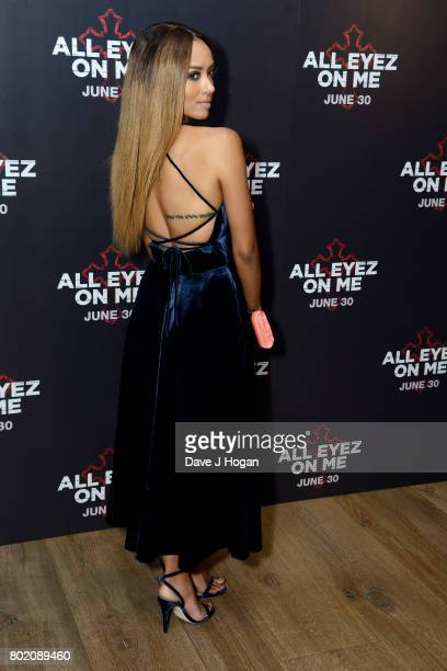 Kat Graham attends the 'All Eyez On Me' UK Film Premiere on June 27 2017 in London England