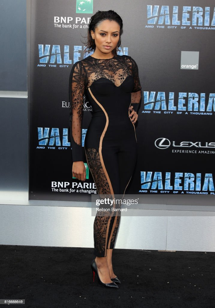 Kat Graham attends the premiere of EuropaCorp and STX Entertainment's 'Valerian and The City of a Thousand Planets' at TCL Chinese Theatre on July 17, 2017 in Hollywood, California.