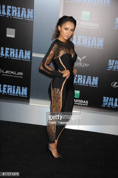 Kat Graham attends the premiere of EuropaCorp and STX Entertainment's 'Valerian and The City of a Thousand Planets' held at TCL Chinese Theatre on...