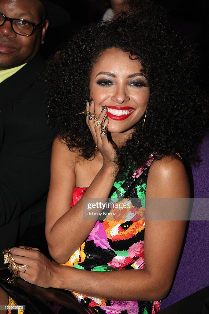 Kat Graham attends the Soul Train Awards 2012 at Planet Hollywood Casino Resort on November 8, 2012 in Las Vegas, Nevada.