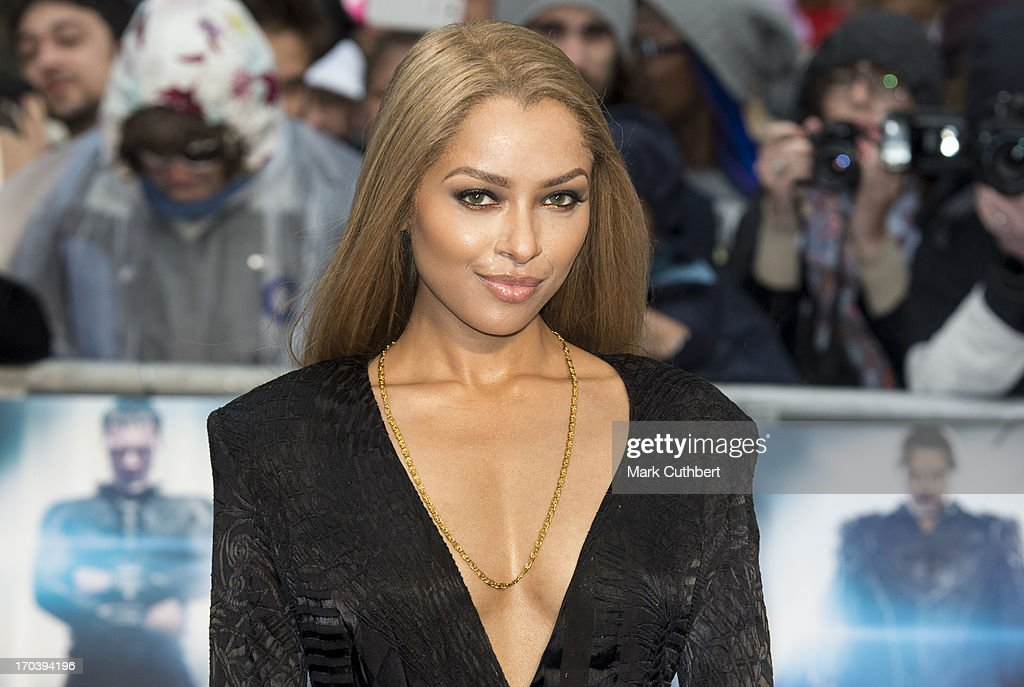 Kat Graham attends the UK Premiere of 'Man of Steel' at Odeon Leicester Square on June 12, 2013 in London, England.