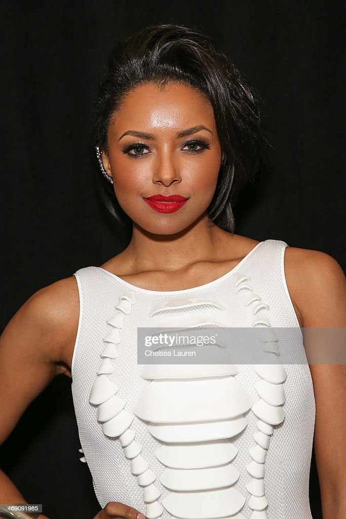 Kat Graham backstage at the The Blonds fashion show during MADE Fashion Week Fall 2014 at Milk Studios on February 12, 2014 in New York City.