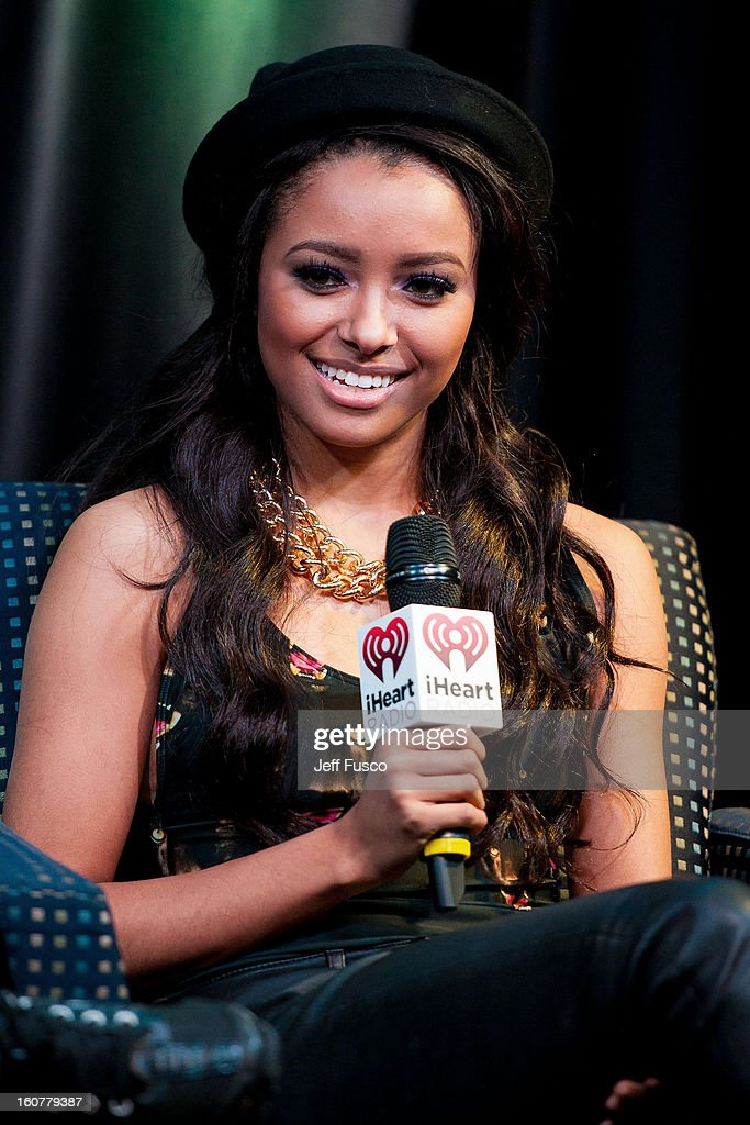 Kat Graham is interviewed at the Q102 iHeart Performance Theater on February 5, 2013 in Bala Cynwyd, Pennsylvania.