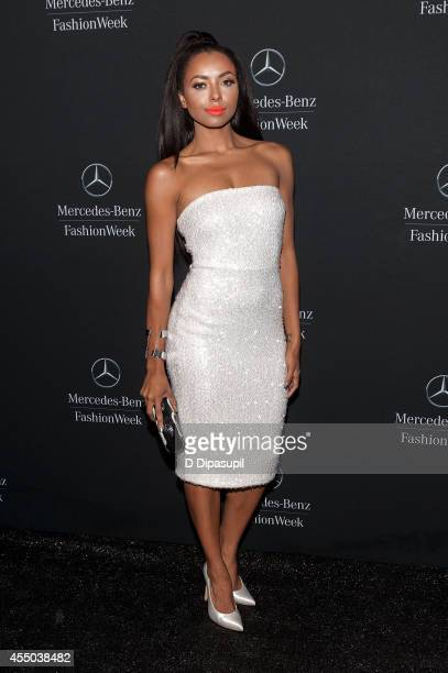 Kat Graham is seen during MercedesBenz Fashion Week Spring 2015 at Lincoln Center for the Performing Arts on September 9 2014 in New York City