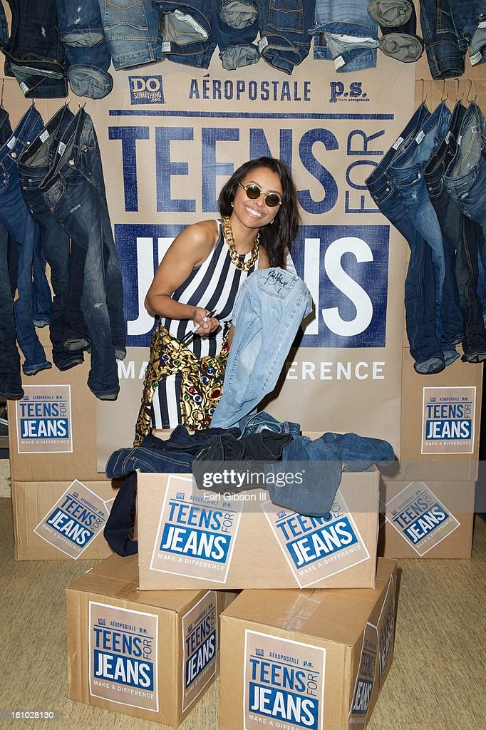 Kat Graham lends her support to the DoSomething.org And Aeropostale's '6th Annual Teens For Jeans' Campaign at Westside Pavilion on February 8, 2013 in Los Angeles, California.