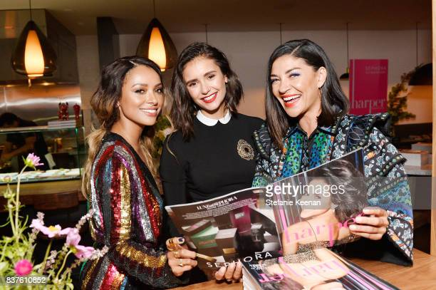 Kat Graham Nina Dobrev and Jessica Szohr attend Nina Dobrev celebrates the harper by Harper's BAZAAR September Issue with an Event Presented By...