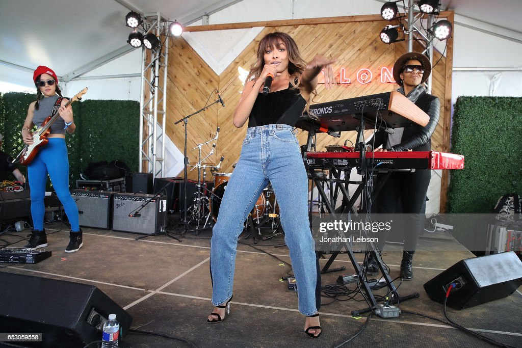 Kat Graham performs at the NYLON's Happiest Of Hours At #TwitterHouse at Bar 96 on March 13, 2017 in Austin, Texas.