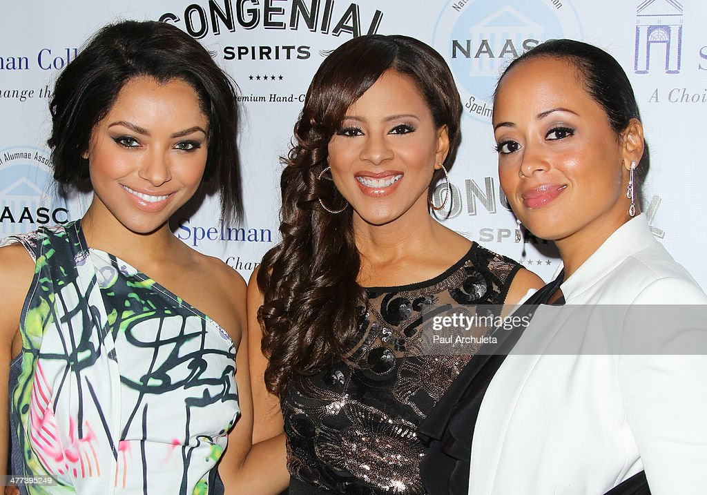 Kat Graham, Traci Blackwell and <a gi-track='captionPersonalityLinkClicked' href=/galleries/search?phrase=Essence+Atkins&family=editorial&specificpeople=225171 ng-click='$event.stopPropagation()'>Essence Atkins</a> attend the National Alumnae Association of Spelman College LA Chapter toasts 20 years of fundraising on March 8, 2014 in Los Angeles, California.