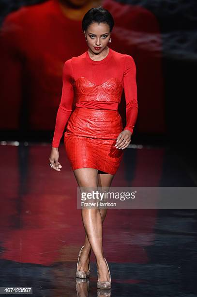 Kat Graham walks the runway at Go Red For Women The Heart Truth Red Dress Collection 2014 Show Made Possible By Macy's And SUBWAY Restaurants at The...