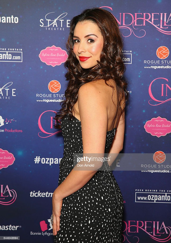 Kat Hoyos arrives ahead of opening night of Cinderella at State Theatre on July 1, 2016 in Sydney, Australia.