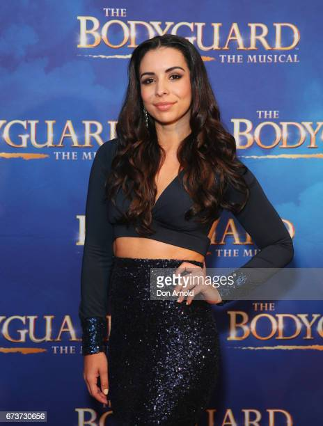 Kat Hoyos arrives ahead of opening night of The Bodyguard The Musical at Lyric Theatre Star City on April 27 2017 in Sydney Australia