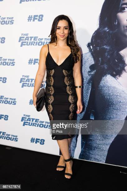 Kat Hoyos arrives ahead of The Fate of the Furious Sydney Premiere on April 11 2017 in Sydney Australia