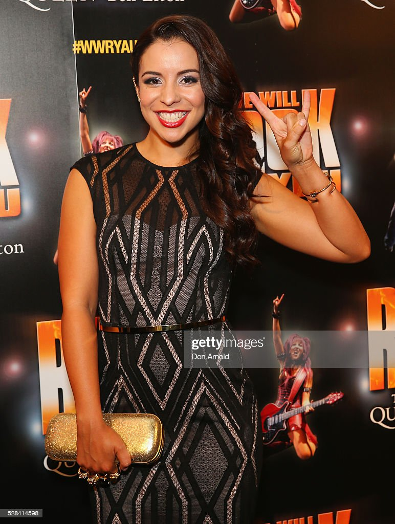 Kat Hoyos arrives ahead of We Will Rock You Opening Night at Lyric Theatre, Star City on May 5, 2016 in Sydney, Australia.