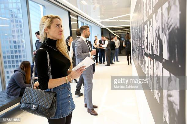 Kat Irlin attends the Stories Untold Conde Nast Collection Presented By Getty Images Opening Celebration at The Conde Nast Gallery on March 24 2016...