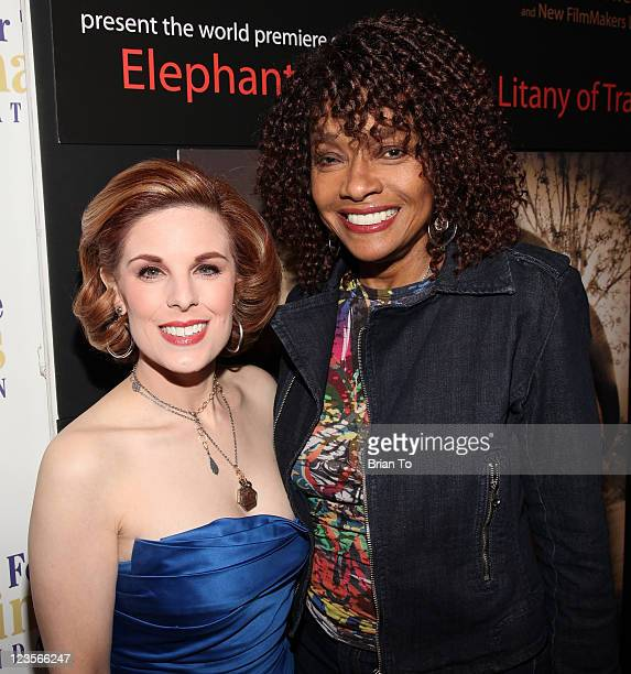 Kat Kramer and Beverly Todd pose at Kat Kramer's 'Films that Change the World' screening red carpet reception at Sunset Gower Studios on January 20...