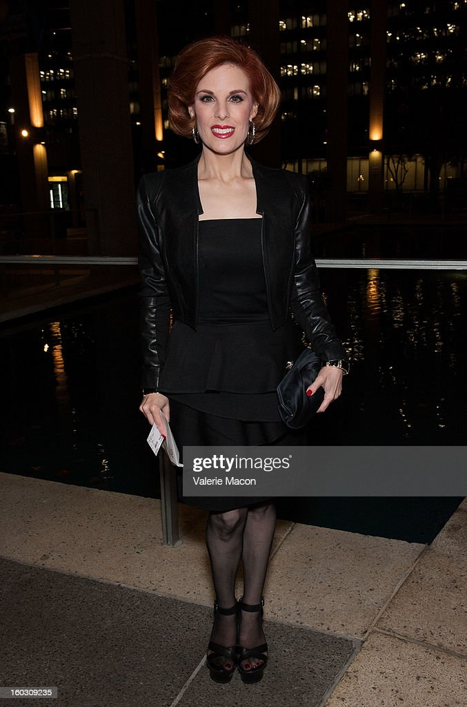 <a gi-track='captionPersonalityLinkClicked' href=/galleries/search?phrase=Kat+Kramer&family=editorial&specificpeople=236074 ng-click='$event.stopPropagation()'>Kat Kramer</a> arrives at 'Enter Laughing, The Musical' Carl Reiner's One-Night Only Tribute Celebrating His 75th Anniversary In Show Business on January 28, 2013 in Los Angeles, California.