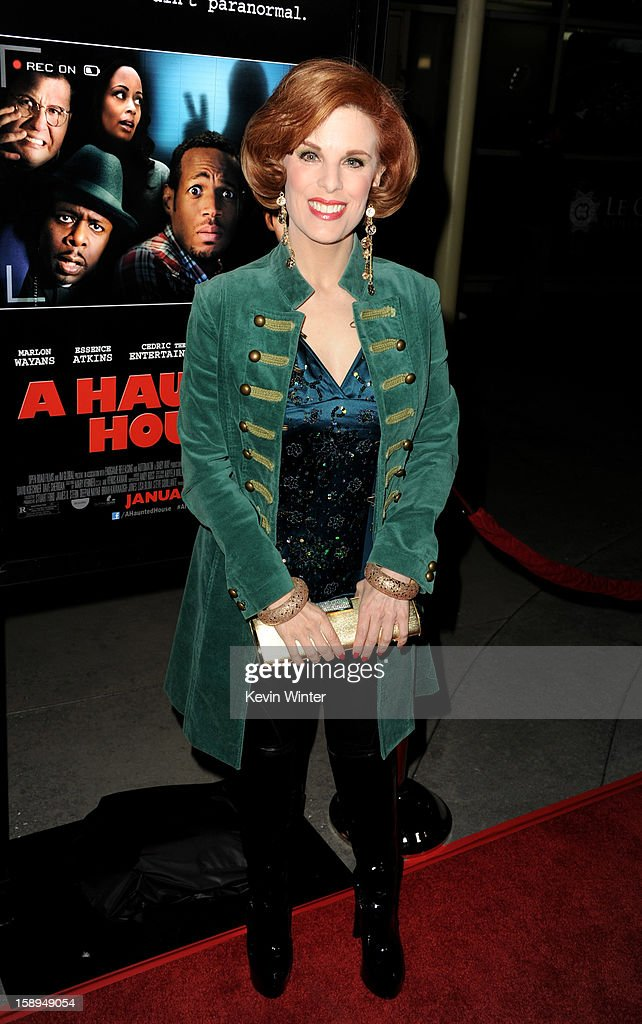 Kat Kramer arrives at the premiere of Open Road Films' 'A Haunted House' at the Arclight Theatre on January 3, 2013 in Los Angeles, California.